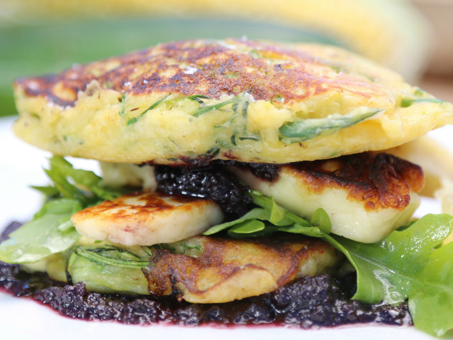 Corn and zucchini fritters by...